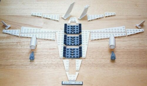 Lego Airplane Engines Wings Tail 7696 Fuselage Base