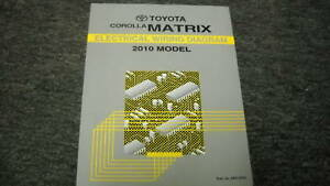 2010    Toyota       Corolla    Matrix    Electrical    Wiring    Diagram    Shop Repair Manual    OEM    EWD   eBay
