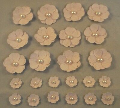 24 x 3D Layered Flower Embellishments Card Making Scrapbooking Toppers Craft