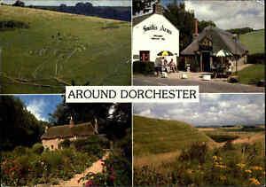Multi-View-Postcard-England-DORCHESTER-Dorset-ua-Smallest-Inn-Smith-s-Arms