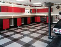 Coin Top Garage Floor Tiles - 7 Colors- Garage Flooring