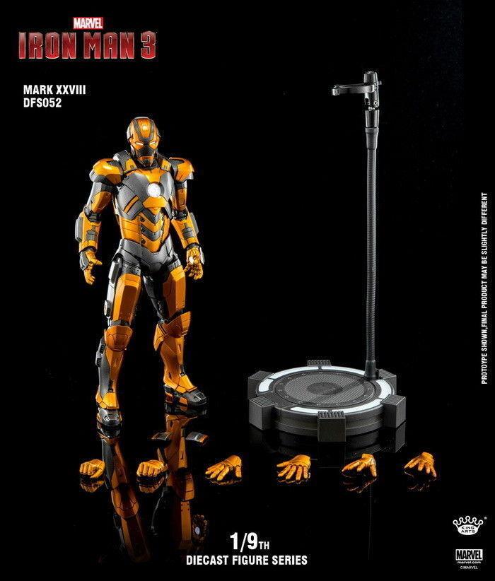 1 9 Rey Artes DFS052 Iron Man MK28 Aleación Flexible Acción Figura Coleccionable