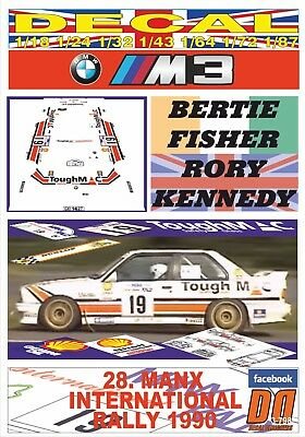 DECAL PEUGEOT 205 GTI P.FRANKLAND MANX INTER 06 1990 10th R