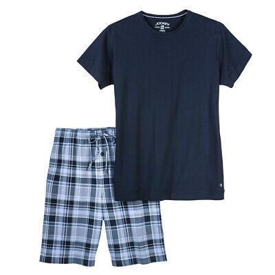 Jockey kurzer Herren Pyjama Shorty Übergröße navy//kariert 3XL 4XL 5XL 6XL NEU