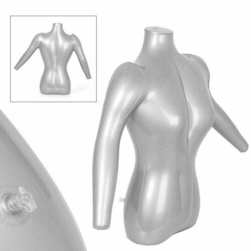 1x Woman Female Half Body W// Arm Inflatable Mannequin Dummy Torso Model Fashion