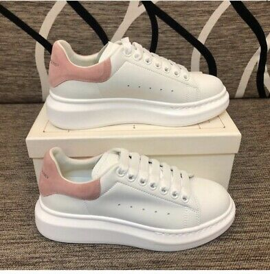 alexander mcqueen white and pink sneakers
