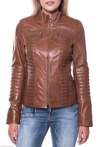 Motorcycle Fit Slim Brand Women's Læder Soft New Jacket Lambskin ægte Mj183 qnSS8wgEUx