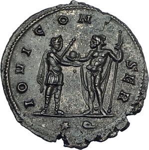 AURELIAN-272AD-Siscia-Authentic-Genuine-Ancient-Roman-Coin-JUPITER-Globe-i65751