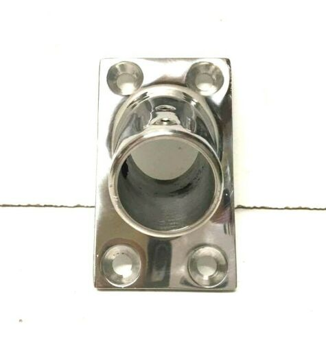 """SSFB66142 Boat//Marine Stainless Steel 1/"""" 60 Degree Rectangle Base Rail Fitting"""