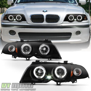 Black Smoke BMW E I I I Sedan LED Halo - 2001 bmw 328i