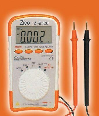 ZICO Mini Pocket DMM Multimeter Auto Range 4000 Counts AC DC Compact vs DM110