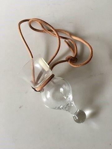 Glas, Holmegaard Lille Gilde Glas i Lædersnor, Holmegaard