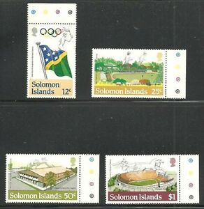Album-Treasures-Solomon-Islands-Scott-530-533-Summer-Olympics-MNH