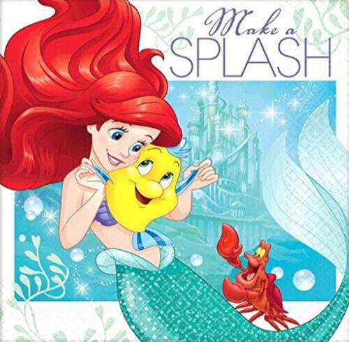ARIEL DREAM BIG Birthday party supplies paper beverage NAPKINS 16pcs mermaid