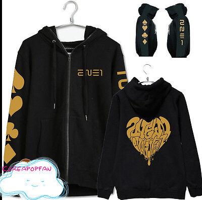 2NE1 kpop CL DARA BOM PARK MINZY unisex zip cap hoodie pullover NEW