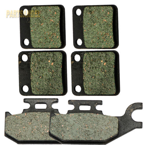 Front Rear Carbon Brake Pads Fit 2007 YAMAHA YFM 450 Grizzly 450 4x4 IRS