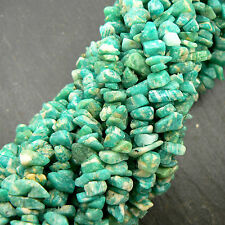 "Amazonite Chips 36"" Strand Quality Gemstone Beads 4-8mm, Aqua"