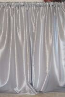 Wedding Drapes Silver Or Platinum Taffeta 58 Wide, For Baby Showers Or Baptism.