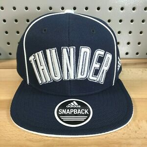 Oklahoma-City-Thunder-OKC-NBA-Basketball-Adidas-Snap-Back-Hat-Flat-Bill-Cap-NWT
