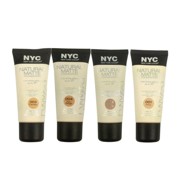 NYC Natural Matte Anti Shine 8HR Foundation All Skin Types 30ml