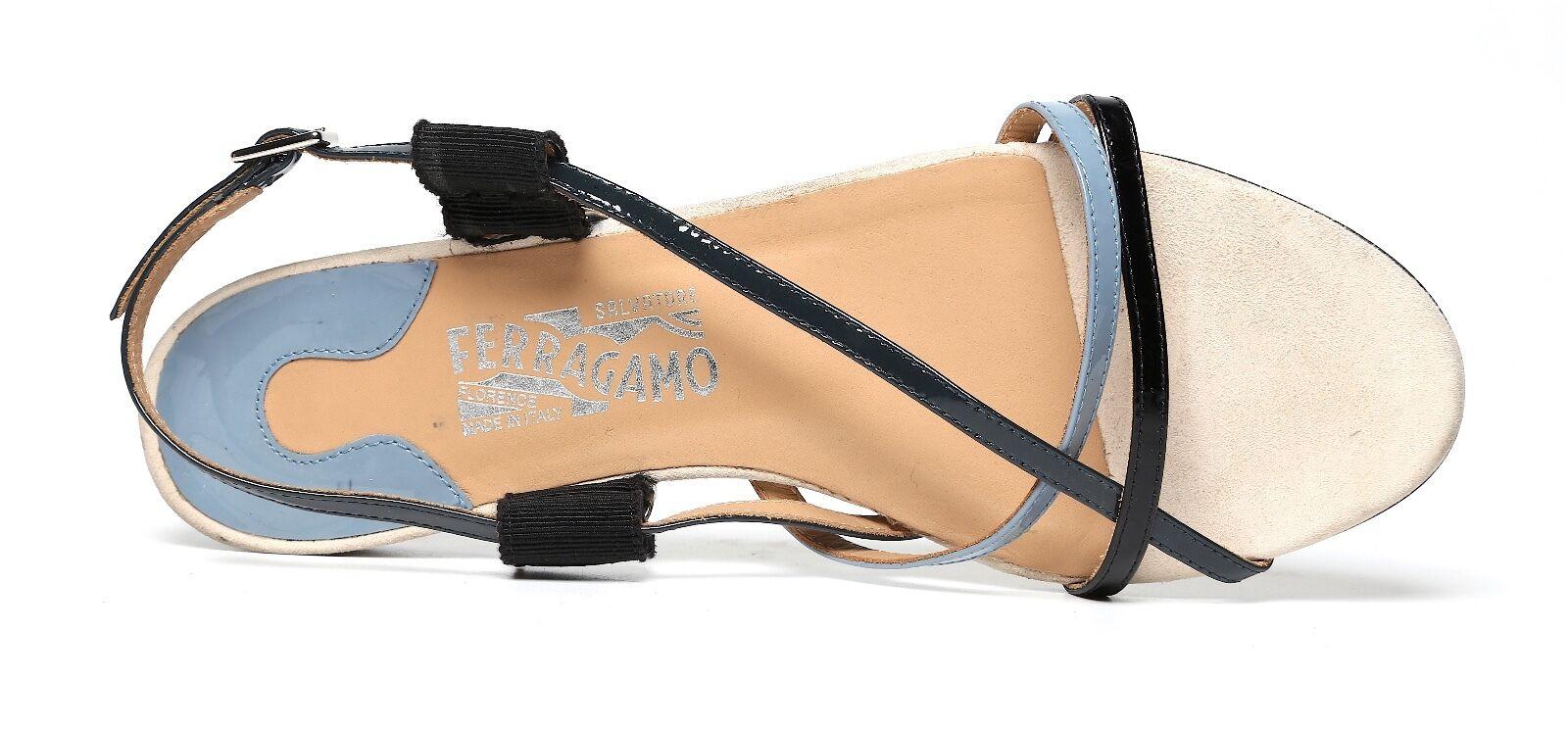 Salvatore Ferragamo Größe Multi-Farbeed Flat Sandales 2138 Größe Ferragamo 7.5 665866
