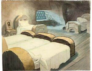 Snow-White-1937-Original-Production-Background-Dwarfs-obg-Disney-cel-animation