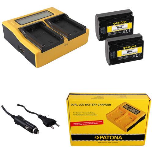 caricabatteria rapido DUAL LCD per Sony NP-FZ100 2x Batteria Patona