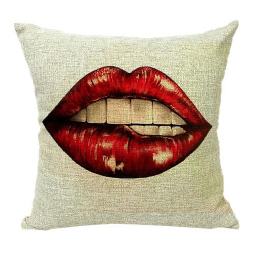 Flaming Lips Sofa Cushion Case Covers Cotton Linen Waist Throw Home Car Decor