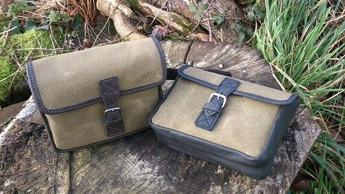 Canvas Saddle Bag with Sandwich Case for Hunting Riding