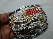 Nice Gist Solid bronze NBHA 2011 Connecticut State Champion senior 3D buckle