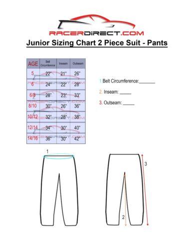 JR FIRE SUIT RACE SUIT PANTS SFI 3.2A//1 BLACK SIZE KIDS 12-14