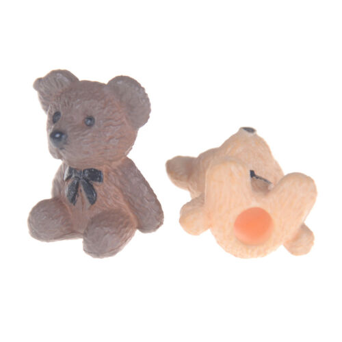 2PCS 1:12 1:6 Scale Sitting bear for Toy Doll Dollhouse Miniature Accessorie DG$