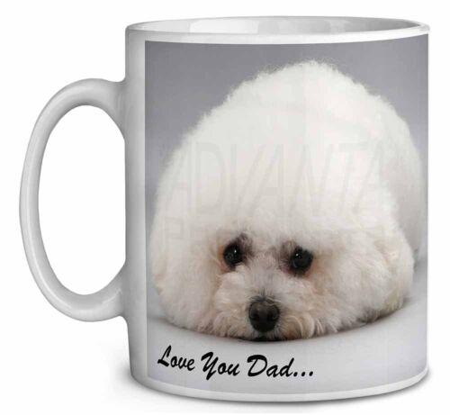 Bichon Frise /'Love You Dad/' Coffee//Tea Mug Christmas Stocking Filler DAD-166MG