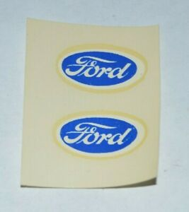 Vintage-1960-039-s-Baldwin-Specialty-Ford-Decals-Pair-Slot-Car-1-24-1-32-Vtg-Decal