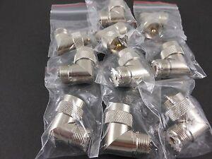 10pk-UHF-Male-to-UHF-Female-Right-Angle-TFE-Gold-Pin-U2