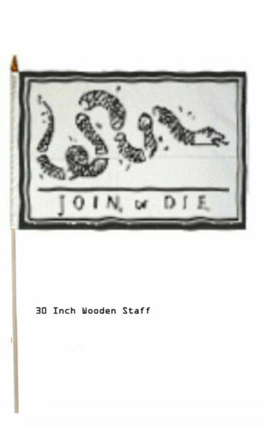 12x18 Wholesale Lot 12 Join Or Die Gadsden Stick Flag 30 Wood Staff For Sale Online Ebay