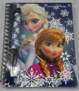 New-Disney-Frozen-Elsa-Anna-Sisters-Journal-Notebook-amp-Pen-Set-Autograph-Book