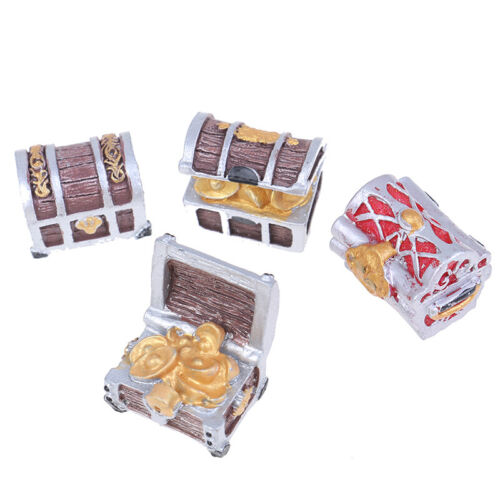 1PC Treasure Chest Box Adventure Gaming Gold Bag Sea Pirate Model Small FiguriTS