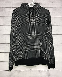 Nike-Mens-3D-Checkered-Track-Pullover-Hoodie-Sweatshirt-Size-L-Large-Black-Gray