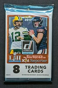 2017 Panini Donruss NFL FOOTBALL Factory Sealed (1) Pack - 8 Cards MAHOMES RC?