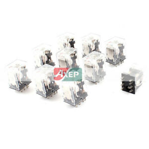 HH52PL-10-Pieces-Coil-DPDT-8-Pin-Red-LED-Light-General-Purpose-Power-Relay-AC-24
