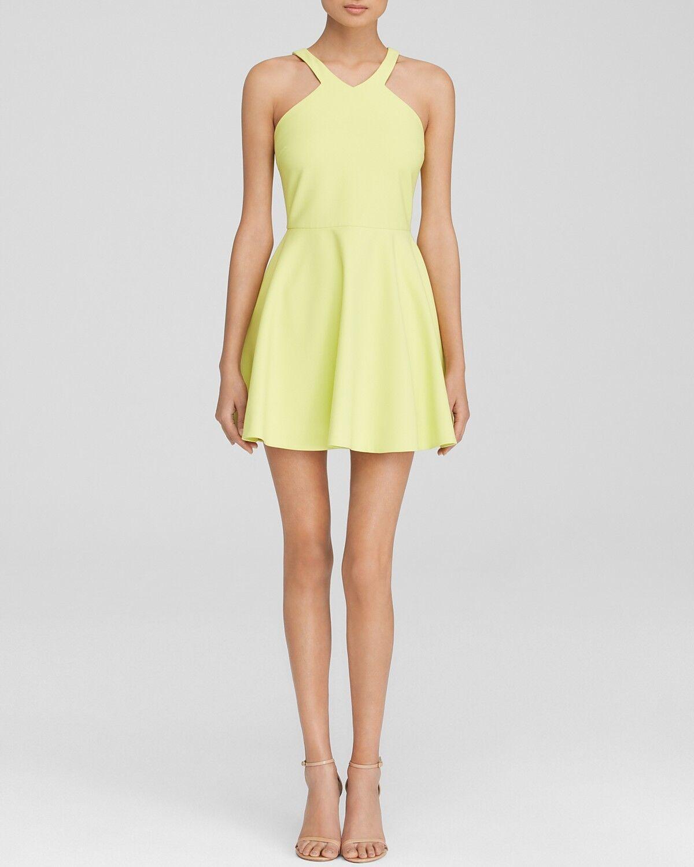 NEW Elizabeth and James Sleeveless Exposed Back Sz 4 Dress Gelb  365 Z2070
