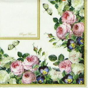 Tela Polialgodón Rosas describe Floral Flor Canterbury Road Brillante