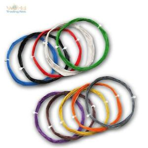 (0,33€/m) 10m flexible Litze 0,04mm² extra dünnes Kabel Dekoderlitze cable wire
