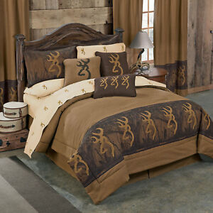 Details About Deer Tree Camo Bedding Set Browning Oak Tree Comforter Skirt Shams Sheets