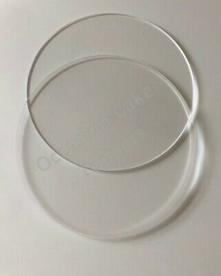 Acrilico Ganaching Piastre-rotonda O Quadrata Coppia Di Dischi Crema Ganache Varie Taglie-mostra Il Titolo Originale