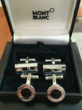 Montblanc steel uw black mystery floating star cuff links