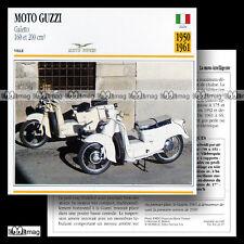 #021.07 Scooter MOTO GUZZI 160 & 200 GALETTO 1950-61 Fiche Moto Motorcycle Card