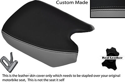GREY & BLACK CUSTOM FITS YAMAHA FZR 400 3TJ FRONT LEATHER SEAT COVER