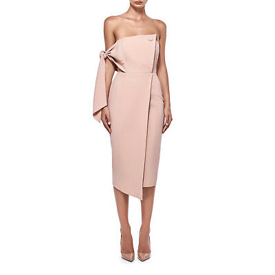 NEW Misha Collection Romi Structured Midi Dress Pink